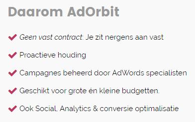 AdWords specialist (SEA) nodig? Meer marketing resultaat met AdOrbit